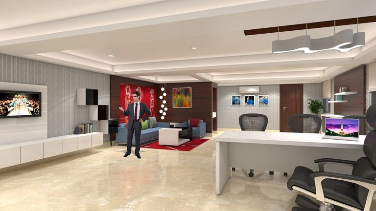 3d interior of director room